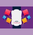 colorful kites frame for makar sankranti festival vector image vector image