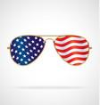 cool gold rim aviator sunglasses with usa flag