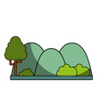 countains with tree and ecology landscape vector image vector image