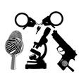 criminalistics vector image vector image