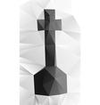 Cross tombstone vector image vector image