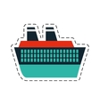 cruise ship travel maritime cut line vector image