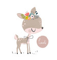 cute summer deer vector image vector image