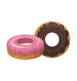 delicious donuts dessert vector image vector image