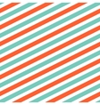 Diagonal red and mint line pattern vector image