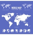 dotted Map and Globe of the World vector image vector image