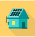 eco house icon flat style vector image