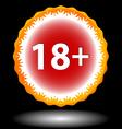 Eighteen plus icon vector image