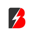 electric flash power initial b lettermark symbol vector image