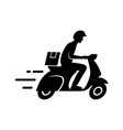 express delivery concept delivery man riding vector image