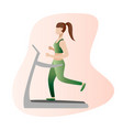 fitness concept of woman fitness vector image