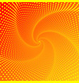 five-pointed figure a whirlwind a spiral of vector image vector image