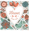 Floral heart frame made of flowers vector image vector image