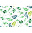 floral seamless pattern with tropical leaves vector image vector image