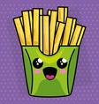french fries kawaii character vector image vector image