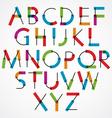 Funny cartoon constructive colorful font vector image