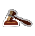 gavel wooden isolated icon vector image vector image