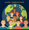 global communication flat design vector image vector image