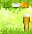 Glowing nature background for St Patricks Day vector image vector image