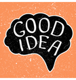 Good Idea text vector image