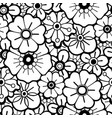 graphic floral pattern vector image vector image