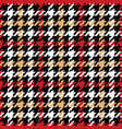 grunge houndstooth pied de poule wallpaper vector image