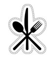 icon cutlery restaurant catering vector image