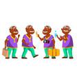 indian old man set elderly people hindu vector image vector image