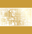 indianapolis indiana usa city map in retro style vector image