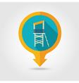 Lifeguard tower pin map icon Summer Vacation vector image