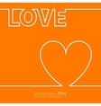 linear heart vector image