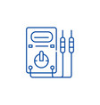 measuring instruments line icon concept measuring vector image vector image