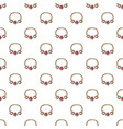 necklace pattern seamless vector image vector image