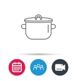 Pan icon Cooking pot sign vector image vector image