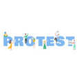 protesting people holding banners and placards vector image vector image