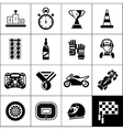 Racing Icons Black vector image