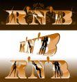 R'n'B titles girls silhouette vector image vector image