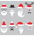Santa hats moustache and beards vector image