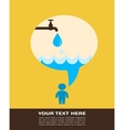 save water poster with raining tap vector image vector image
