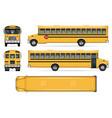 school bus mockup vector image