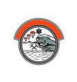 sea air mountain rescue honey badger mascot vector image