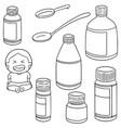 set of liquid medicine vector image vector image