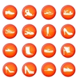 Shoe icons set vector image vector image