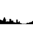 silhouette of the town vector image vector image