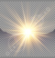 sunrise over the mountains dawn transparent vector image vector image