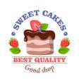 Sweet cakes best quality good shop logo