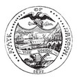 the official seal of the us state of oregon in vector image vector image