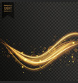 transparent golden light effect background vector image vector image