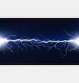 uv lightning with flashes on a dark background vector image vector image