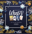 winter big sale poster vector image